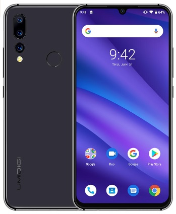 LAATSTE 6,3 inch 8core Android 9 4GB/32GB smartphone 4 SONY cams, 4150 mah