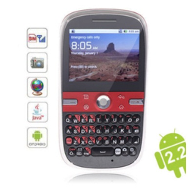 OP=OP! made by FOXCONN Blackberry Style Android 3G smartphone simlock vrij SUPERKOOPJE