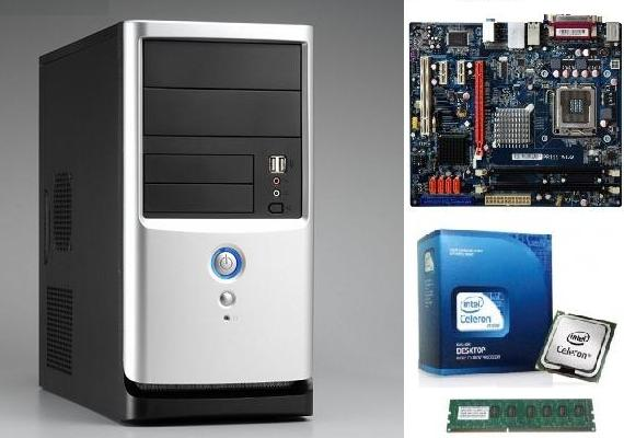 400W Behuizing + All-in-1 Mainboard + Intel E3400 + 2GB DDR3 E 115!