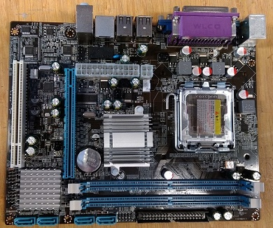 S775 G31 OEM Mainboard voor DDR2, VGA, IDE, PCI, PCI-e, LPT