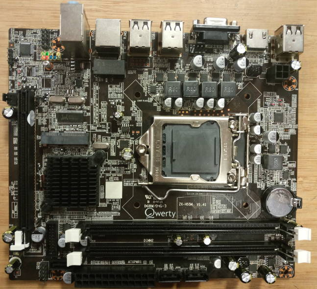 KNALLER H55 ALL-IN-1 Mobo + HDMI +  Msata INTEL CORE i5 650 + koeler E 99