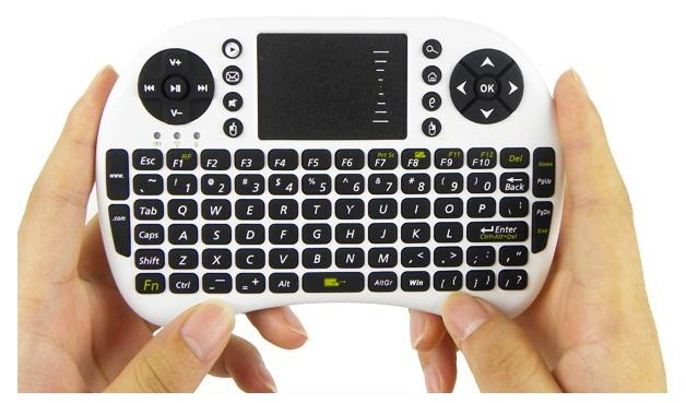 SALE SALE SALE Mini wireless Keyboard en mousepad, wit, 14,7x9,8 cm, super voor htpc